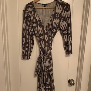 Banana Republic Ikat Print Wrap Dress